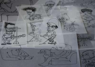 Cartoon sketch