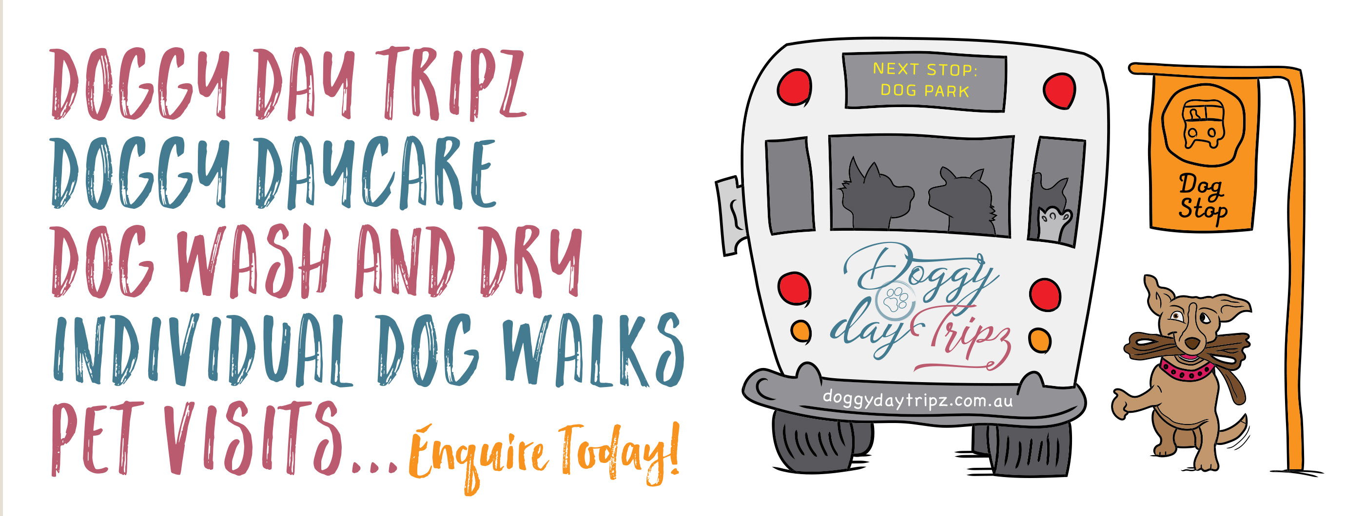 Doggy Day Tripz facebook banner idea