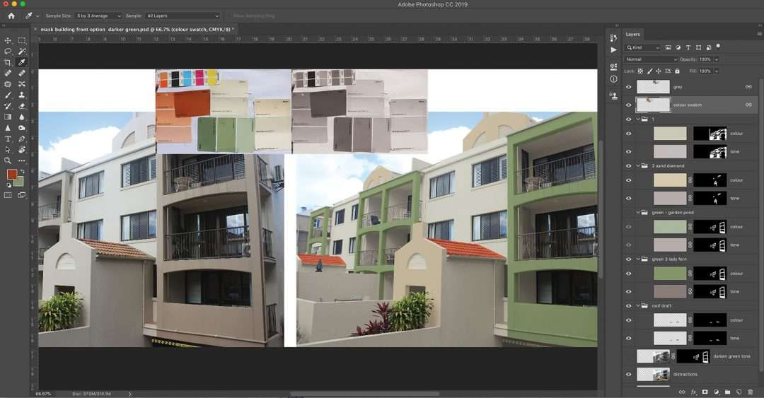 Photoshop Sunshine Coast – Paint colour selection