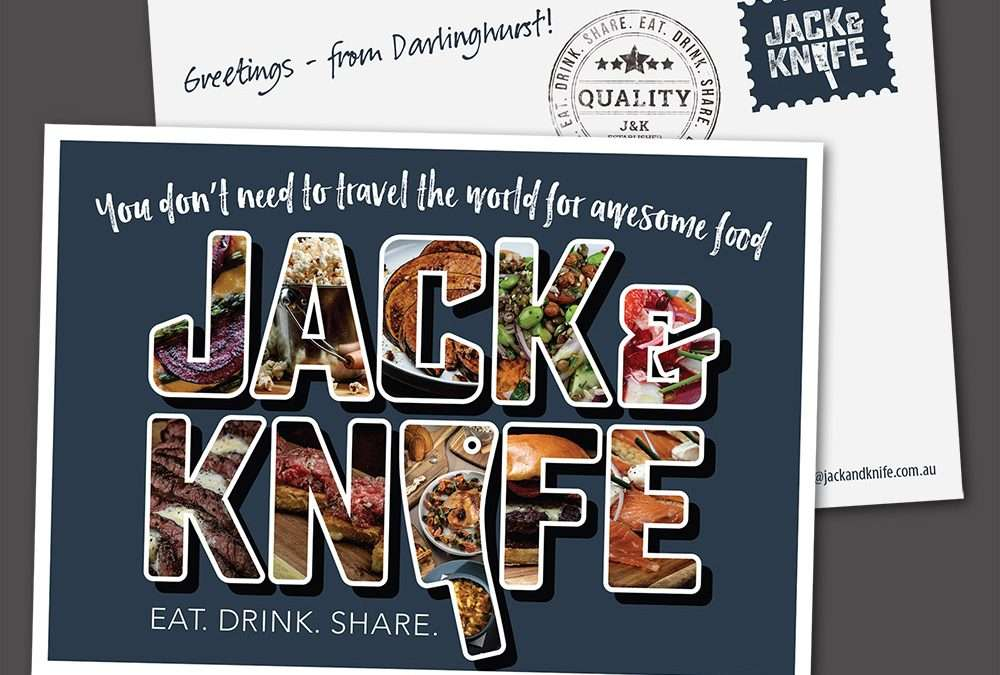 Jack and Knife postcard